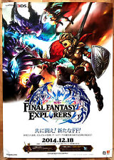 Final Fantasy Explorers RARE 3DS 51.5 cm x 73 Japanese Promo Poster #1