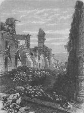 PERU. Peru Earthquake 1868. Street of the Church de San Juan de Dios, 1868