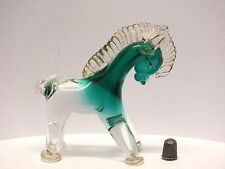 Genuine 1960s/1970s Cenedese Venetian Glass Donkey/ Horse Figure with Gold Leaf