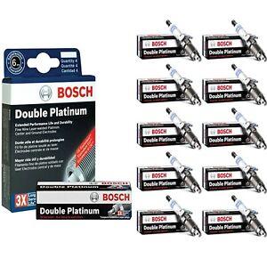 10 pcs Bosch Double Platinum Spark Plugs For 2017 AUDI R8 V10-5.2L