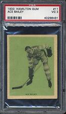 1933 Hamilton Gum #11 Ace Bailey - HOF - Maple Leafs PSA 3 VG