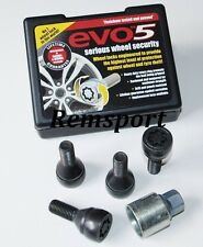 EVO 5 Locking Wheel Bolts Black 12x1.5mm BMW 1 Series -11