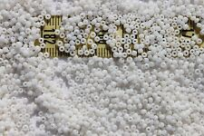 Vintage French 12/0  Glass Seed Beads Alabaster  /1oz