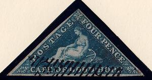 Cape of Good Hope: Scott #2, Used, Wmk 15, bluish paper, 3 margin, light cancel