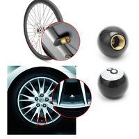 "4Pcs Universal Car Truck Bike ""Pool 8 Ball"" Tire Air Valve Stem Caps Wheel Rims"