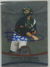 New York Yankees PETE O'BRIEN autographed 2010 Bowman Sterling Collegiate
