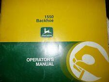John Deere Operators Manual for 1550 Backhoe