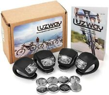 LUZWAY LED Bike Lights, Bicycle Lights Front Rear Waterproof Silicone Housing...