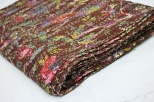 Indian Kantha Quilt Bird Print Bed Cover Bedspread Blanket Throw Handmade Quilts