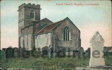 BRIGSLEY St. Helen's Parish Church Postcard Grimsby LINCOLNSHIRE Jay Em Jay, Gy