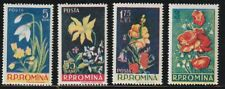 Romania   1956   Sc # 1112-15   Flowers   VLH   (54725)