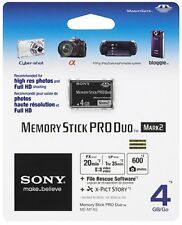 Genuine Sony 4gb Memory Stick Pro Duo Mark2 Card UK Seller VAT invoice Fast Disp