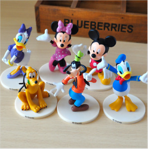 6 Mickey Mouse Minnie Donald Daisy Club action Doll Toy cake Cover