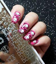 NEW BPX-L015 Cute Panda Theme DIY Manicure Nail Art Image Stamping Template