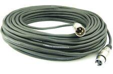 30 m Câble du Microphone Noir XLR XLR 3 Broche, symetrique, DMX Câble Adam Hall