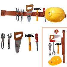 Kid's 7pcs Builder Construction Toy Set Fancy Dress Tool-Belt Boy's Gift Present