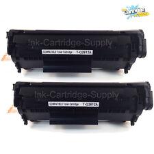 2x Q2612A 12A Black Toner Cartridge for HP LaserJet M1319 M1319f  1010 1012