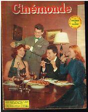 ANCIENNE REVUE CINEMONDE 1953 DANIELE DELORME JEAN MARAIS GERARD PHILIPE