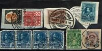 Thailand 5 1920s Stamps on Piece two SC# 211 pairs, 211 creased corner  - S2064