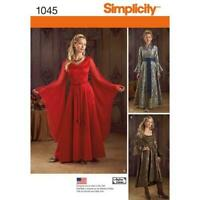 Simplicity Sewing Pattern 1045 Misses Ladies Fantasy Costumes Size 14-20 Uncut