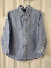 Gap Boys Blue Button Down Shirt Size: XS (4-5)