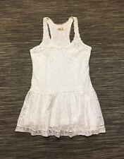 Hollister Womens Sleeveless Ruffled Lined Cotton Lace Summer Mini Dress M