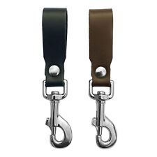 Leather Key Ring Belt Clip Attachment Multi Clip UK Made Genuine Leather