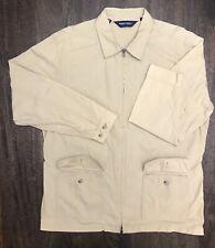 VTG Polo Ralph Lauren Mens Khaki Size XL Lightweight Adjustable Safari Jacket!🔥