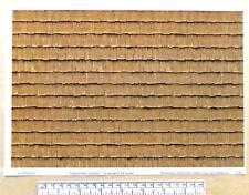 "G gauge (1:24 scale) "" Wood shingles - dark brown"" "" -  paper- A4 sheet"