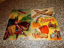 ALBUM STORIA DEI TRASPORTI ED.LAMPO 1953 COMPLETO OTTIMO TIPO PANINI EDIS RELI
