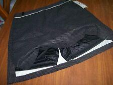 A W Golf 12 Black /white Dots,  Skirt/Shorts,Pockets side zip Tennis,Golf Skort.