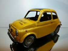 TIN TOY FIAT 500 - YELLOW 1:8 or 1:10 -  GOOD CONDITION