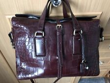 Mulberry Roxette In Oxblood Croc Leather