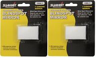 2 X SUMMIT BLIND SPOT CHROME PLATED RECTANGULAR MIRROR FOR CARS & VANS CBS-1