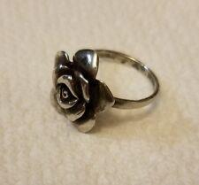 Vintage sterling silver rose ring
