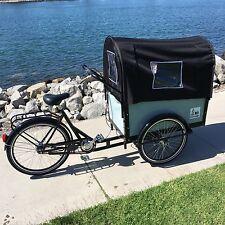 Cargo Box Bike Bakfiet Bicycle Family Kids Trailer Beach Park Manual