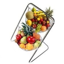 2 livello CHROME OSCILLANTE Amaca Appesa frutta verdura cesto ciotola RACK STAND