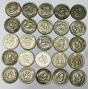Australian Silver One Shilling Coins - Lot of 25 Coins