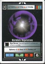 STAR TREK CCG WHITE BORDER PREMIERE 1995 BETA RARE CARD WORMHOLE NEGOTIATIONS