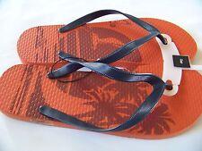 New Gap Thong Men's Flip Flops Size 12. Color Orange/blue