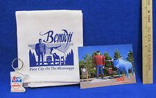 Paul Bunyan Babe Blue Ox Souvenirs Postcard Keychain Kitchen Hand Towel Lot of 3