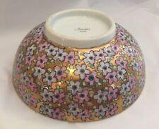 Imari Serving Bowl Japan Gold Pink Cherry Blossoms Vintage Antique