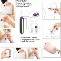 10 Speed Waterproof Portable Mini Vibrating Bullet Rechargeable Body Massager UK