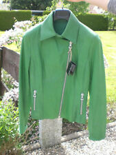Chaqueta de cuero verde Ital. modelo vera Pelle alemana tamaño aprox. 36 Ital. tamaño 42 nuevo
