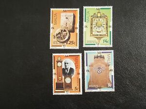 MALTA STAMPS 1995 - CLOCKS - SET OF FOUR - MINT NEVER HINGED