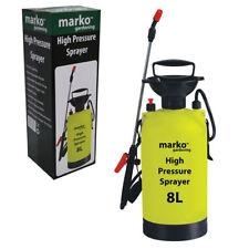 Marko Manual High Pressure Sprayer Bottle Knapsack Weed Killer - 8 Litre