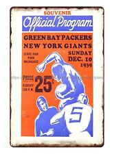 1939 football game Green Bay Packers vs. New York Giants World Championship