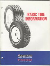 Bridgestone / Firestone Basic Tire Information (Paperback, 56 Pages)