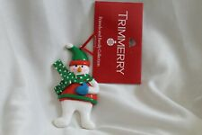 Trimmery Friends And Family Collection Resin Snowman Christmas Ornament nwt