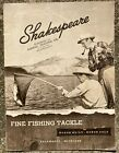 Vintage 1949 SHAKESPEARE Fishing Tackle Catalog Bamboo Fly Rods & Lures